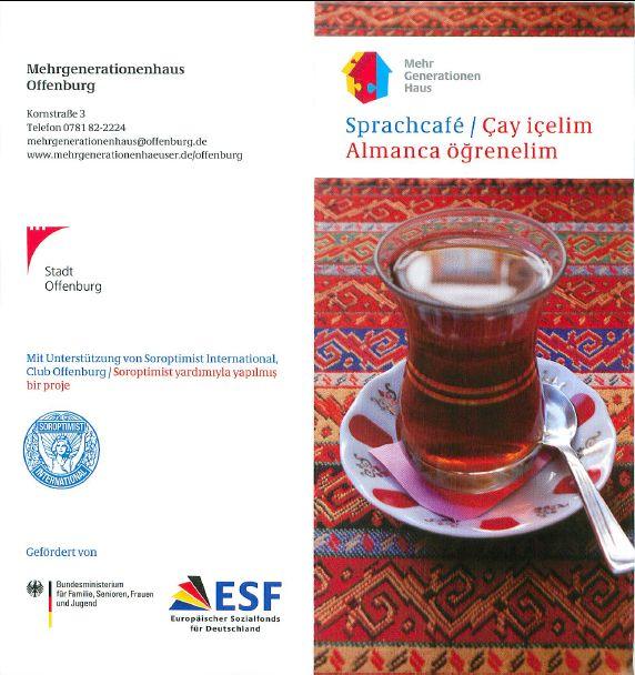 Flyer Sprachcafe mit Informationen zum Projekt